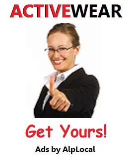 AlpLocal Activewear Mobile Ads