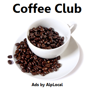 AlpLocal Coffee Club Mobile Ads