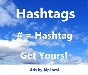 AlpLocal Hashtags Mobile Ads