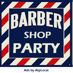 AlpLocal Barbers Party Mobile Ads