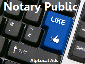 AlpLocal Notary Public Mobile Ads