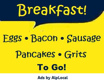 AlpLocal Breakfast Mobile Ads