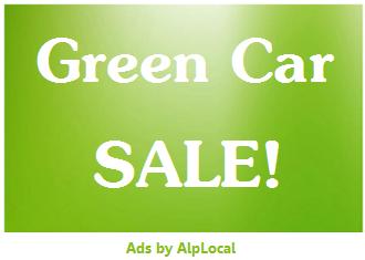 AlpLocal Green Car Sale Mobile Ads