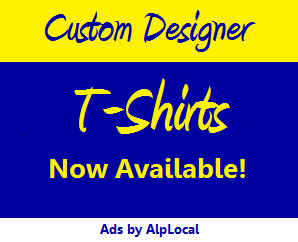 AlpLocal T-Shirts Space Mobile Ads