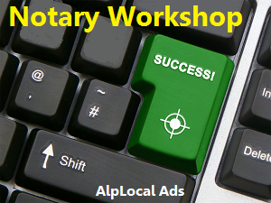 AlpLocal Notary Workshop Mobile Ads