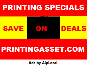 AlpLocal Printing Specials Mobile Ads