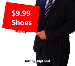 AlpLocal Designer Shoes Mobile Ads