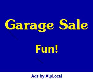 AlpLocal Garage Sale Mobile Ads