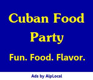 AlpLocal Cuban Food Party Mobile Ads