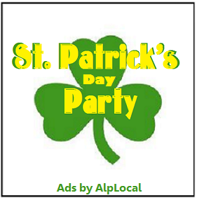 AlpLocal Saint Patrick's Day Party Mobile Ads